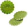Sequins Hologram 36mm With Hole Flower Lime Green